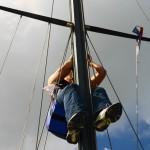 Beccy im Mast
